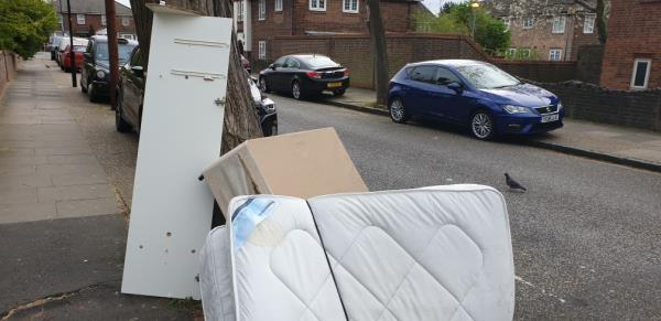 bed and garden rubbish -28 Jenkins Road, London, E13 8NP