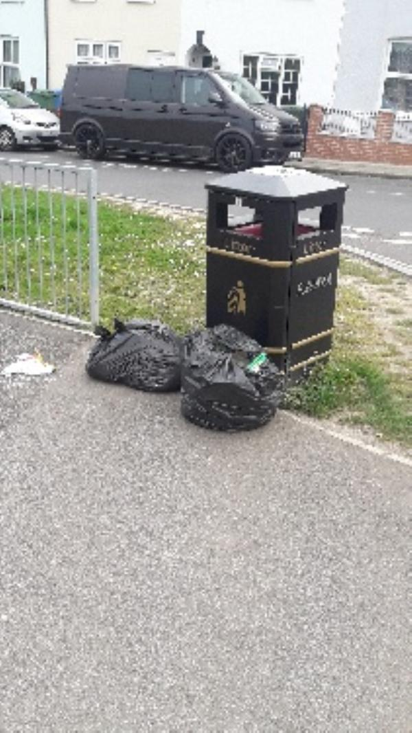 more fly tipping at junction of auchinleck way this is an increasing problem in the area -74 Alexandra Road, Aldershot, GU11 1QJ