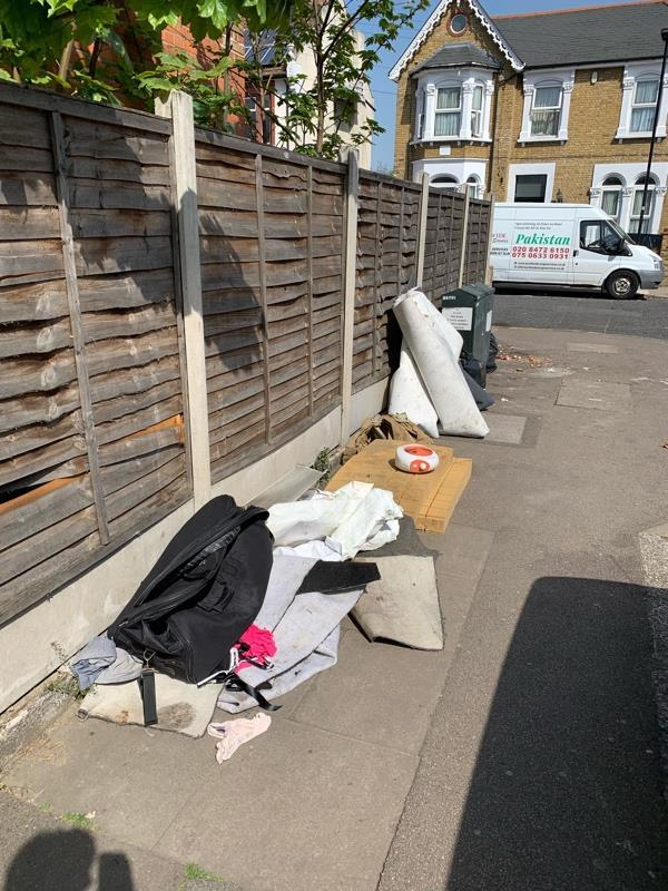 Fly tipping-13 Sprowston Rd, Forest Gate, London E7 9AD, UK