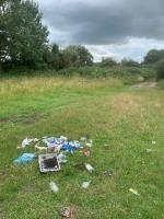Fly tipping  image 1-2 Fair Ground Caravans Scours Lane, Reading, RG30 6AY