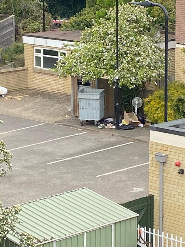 Every single day and week. Marron House, instead of getting a skip they fly tip. Will the council ever enforce? image 1-58 Bowmans Close, West Ealing, W13 9YT