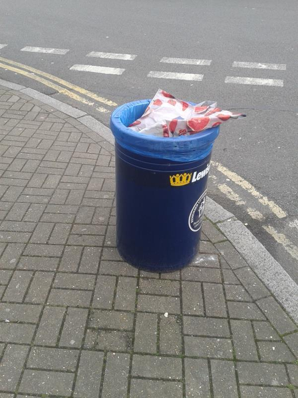 Junction of Bamford Road. Please empty litter bin-2 Old Bromley Road, Bromley, BR1 4PL