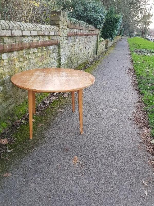 dumped table blocking footpath-28 Bexley Court, Reading, RG30 2DY