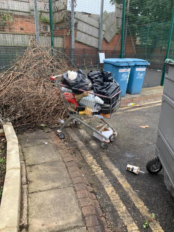 Local restaurant leaving their rubbish on the street corner of Garfield Street -6a Ross Walk, Leicester, LE4 5GF