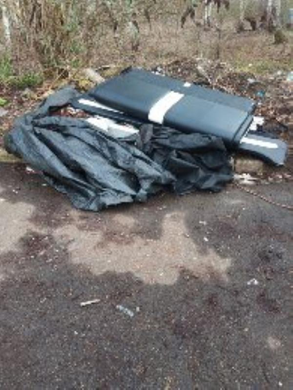 fly tipping, near recycling area bottom of car park. -53 Robert Parker Road, Reading, RG1 8DF