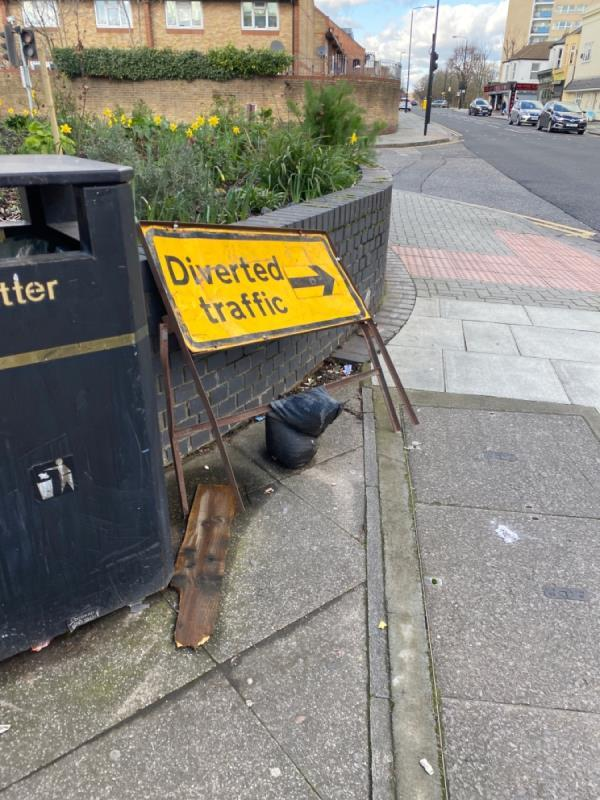 Left here for weeks by rail rd repairers -4 Woodford Road, London, E7 0HA