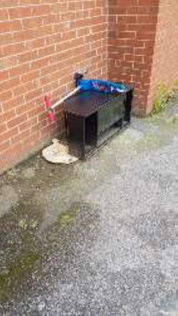 tv stand rear of job centre -61 City Rd, Chester CH1 3AE, UK