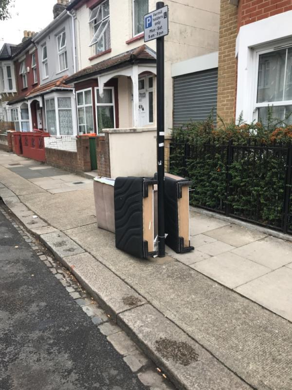 Fly tipping -170 Third Avenue, Manor Park, E12 6DT