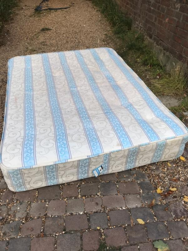 Dumped mattress -122 Ridley Road, London, E7 0LX