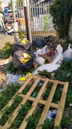 severe flytipping along entire road image 2-K6 Bridge Rd, Southall UB2 4AB, UK