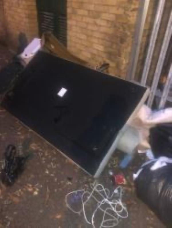 Avonley Road by sub station. Please clear flytip-31 Heathfield Court Avonley Road, New Cross Gate, SE14 5AP