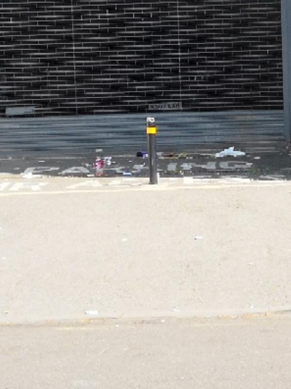 littering. general debris all over top of Carlton rd as you enter from Romford rd-637c Romford Rd, Manor Park, London E12 5AD, UK