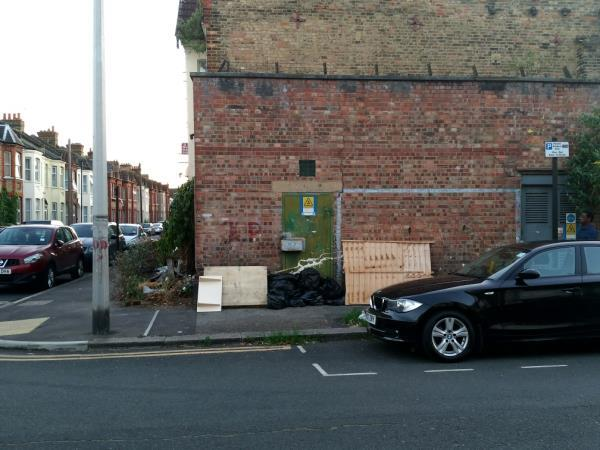 rubbish dumped-39 Bingley Road, London, E16 3JR