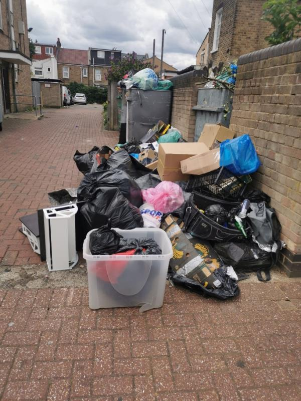 Significant amount of rubbish dumped-Greville Lodge Thorngrove Road, Plaistow, E13 0SB