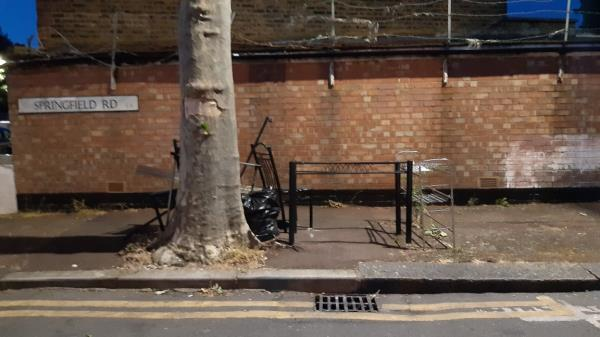 Furniture dumped in Springfield Road, side of 42 Southend Road -42a Southend Road, London, E6 2AA