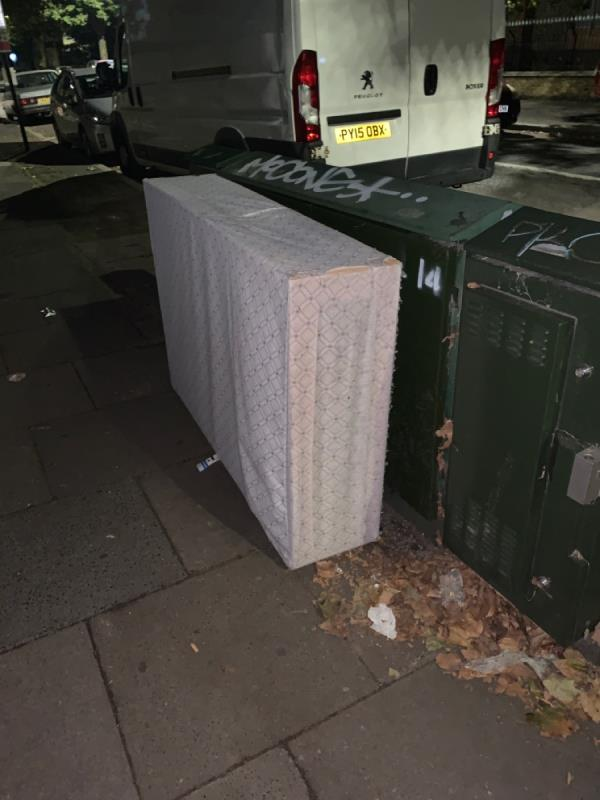 After I challenged them 10 mins ago fir dumping it on clova it's now on Norwich h-231 Romford Rd, London E7 9HL, UK