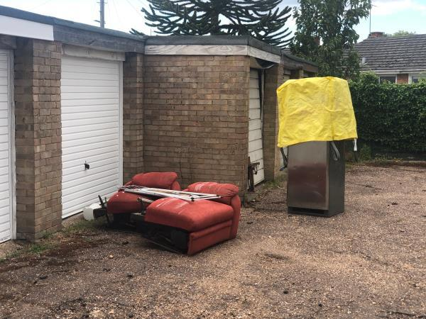Refrigerator and furniture dumped-311 Norcot Road, Reading, RG30 6AG