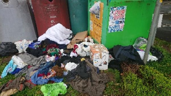 clothing bank needs to be emptied removed houseold fly tipping  image 1-94 Cranbury Rd, Reading RG30 2TA, UK