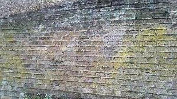 Structural defect, brick wall-Green Ln, London W7 2PJ, UK