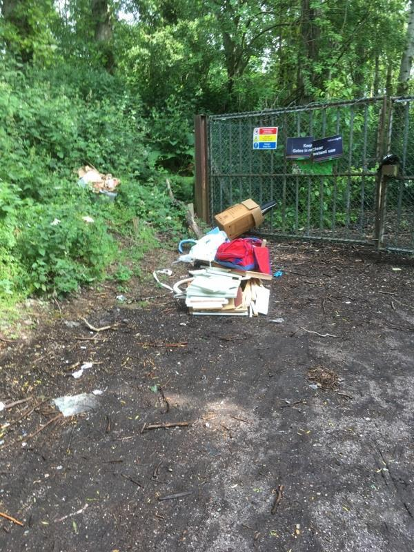 Fly tipping again -Riverview Court, 25 Rutland Avenue, Leicester, LE2 8TB
