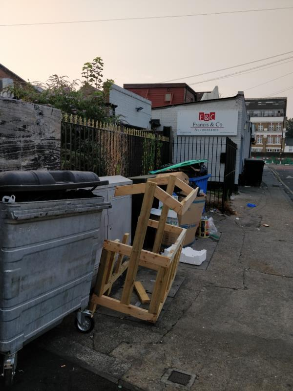 Dumping of household waste beside 1a Francis Street E15-23-25 Leytonstone Road, London, E15 1JA