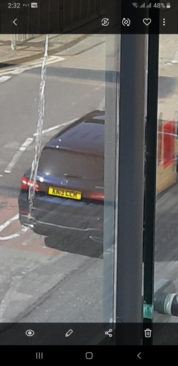 This person was parked up on the street opposite my flat, he was eating in his car and decided to throw all his rubbish out of the window and onto the main road. It wasn't even on the kerb side. He also didn't use a bag so the rubbish is flying around. -Wenlock Place, 35 Greengate Street, London, E13 0AS
