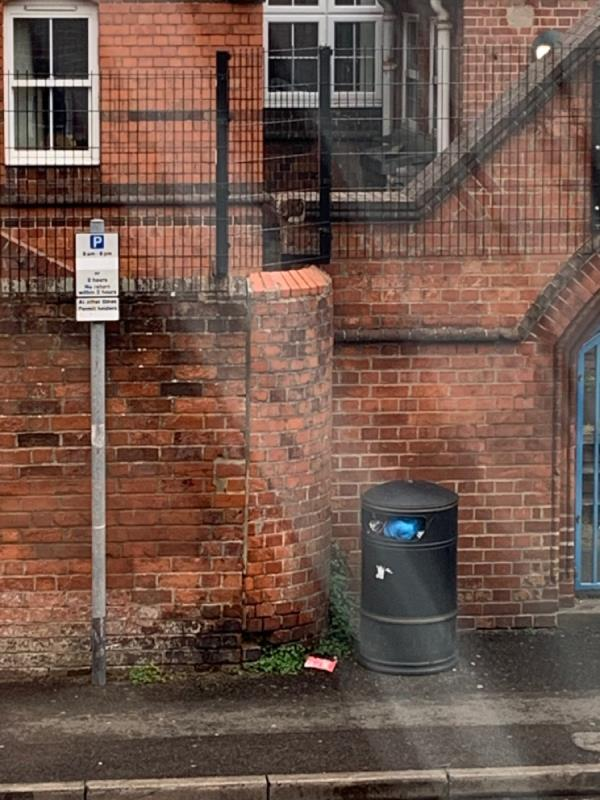 The bin is full of rubbish -12 Phoebe Court, Reading, RG1 2NL