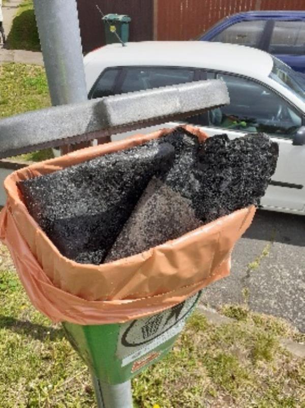 builders felt and household waste in bin no evidence taken -42 Stapleford Road, Reading, RG30 3ED