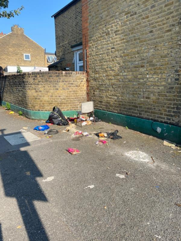 Flytipping-153a Boundary Road, Plaistow, E13 9QF