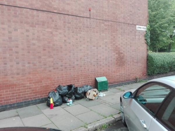 Flytipping  - Junction Lorne Rd. Victoria Park Rd. LE2 1XF-340 Victoria Park Road, Leicester, LE2 1XF
