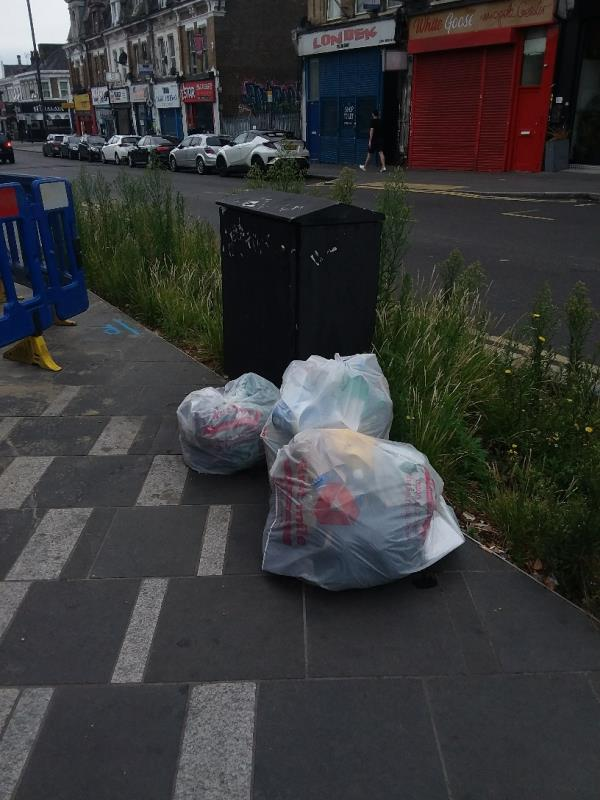 Litter left at this location-198a The Grove, London, E15 1EN