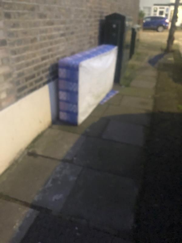 Fly tipping -32 Flanders Road, London, E6 6DU