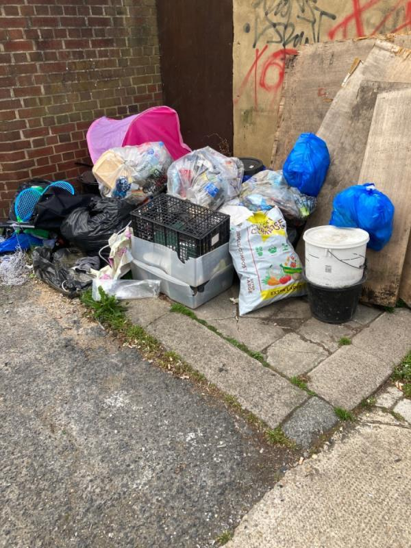 Large fly-tip-3 Tudor Rd, London E6 1DP, UK