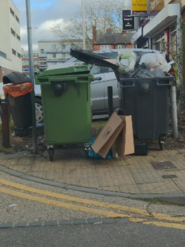 dumped rubbish -1a Eaton Place, Reading, RG1 7LP