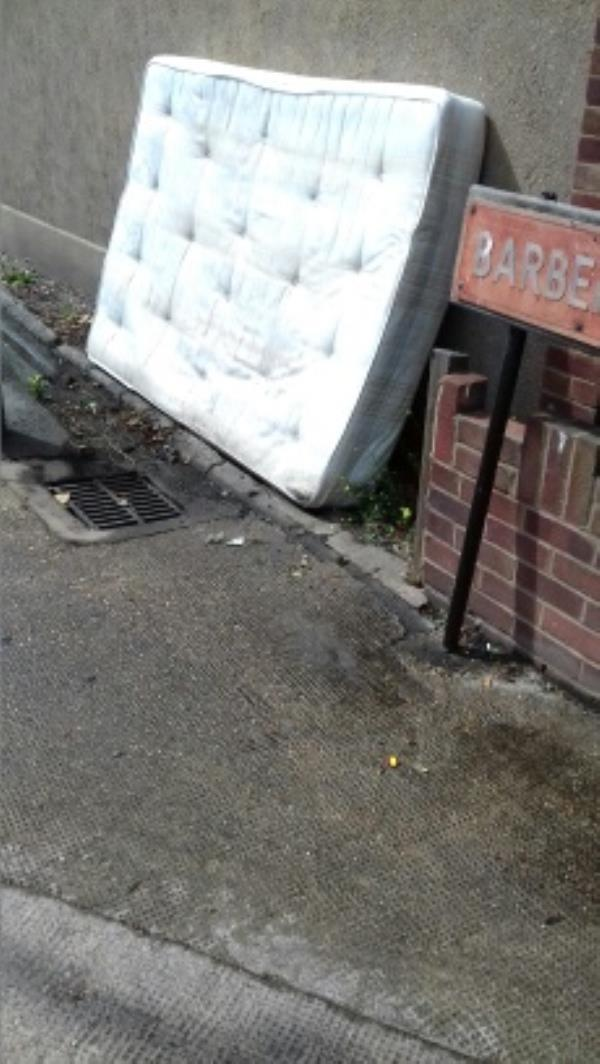 A mattress dumped near 22 Greengate Street -20 Greengate Street, London, E13 0AS