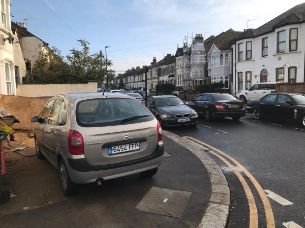People at this property regularly use the dropped curve to park, which also obstructs the footpath. -129 Sebert Road, London, E7 0NN