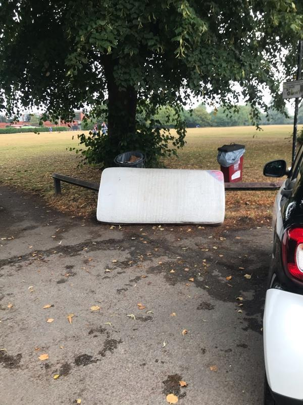 Mattress dumped in the Palmer park car park on Palmer park avenue-118 Wokingham Road, Reading, RG6 1LF