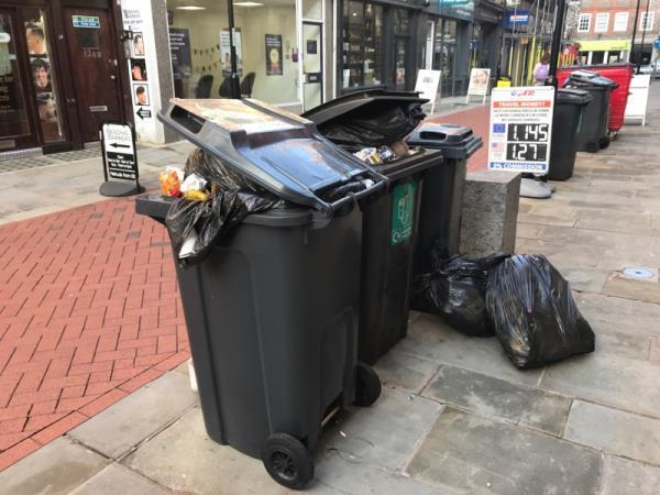These were put outside of our office on Monday!! This is becoming a really big problem for us and our neighbours below us! I would like to meet with someone from the council please ASAP. Could you please let me know when this would be convenient? Regards Helen Waring from Cream Design 0118 9586946-14a Cross Street, Reading, RG1 1ST