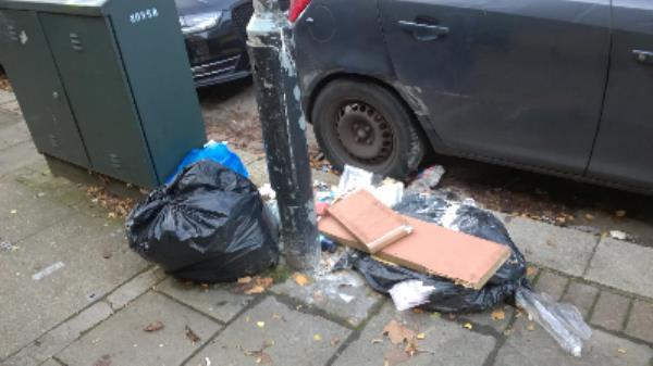 bags domestic waste, work top-16 Stock Street, London, E13 0BY