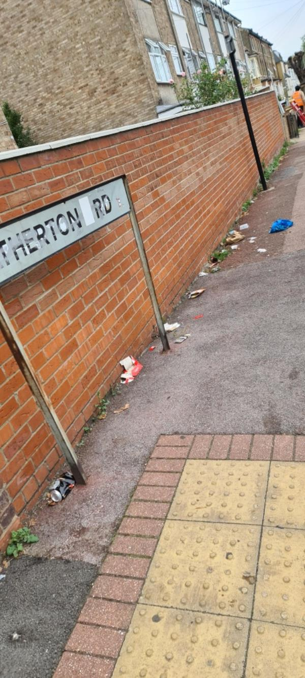 Lots of rubbish on the pavement -8 Earlham Grove, London E7 9AW, UK