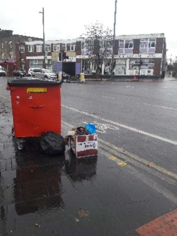 Fly-tipping, 156 The Grove , Stratford Original Ambassador MK-150 The Grove, London, E15 1NS