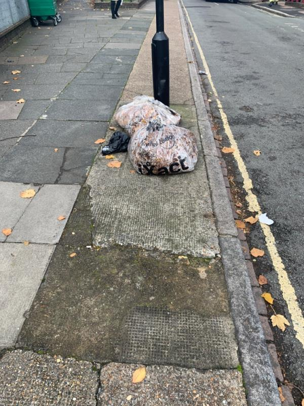 Litter for collection on Windsor Road E7 -30 Windsor Road, London, E7 0QT