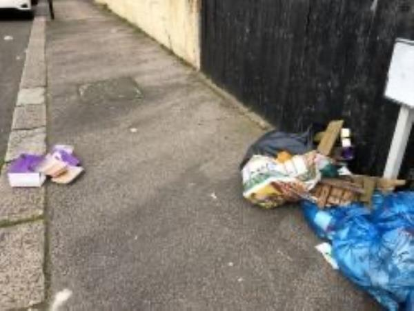 Fordyce Road. Please clear flytip of food waste-117 George Ln, London SE13 6HP, UK