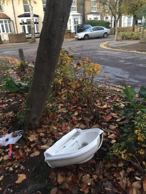 Sink on rosebed -55 Durham Road, London, E12 5AY