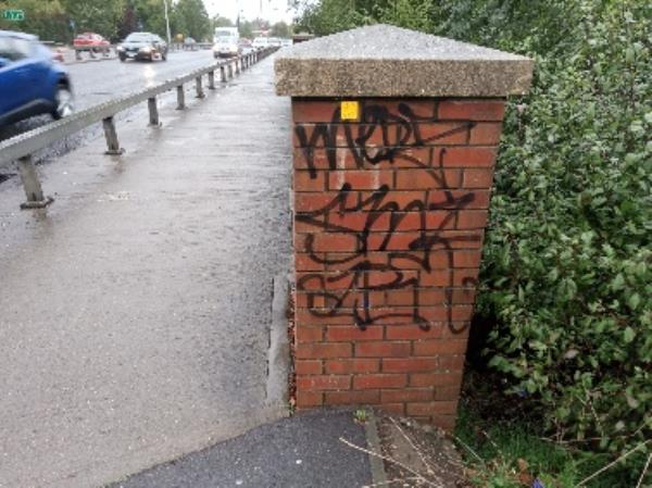 Graffiti on the bridge -Reading Relief Road, Reading, RG2 0