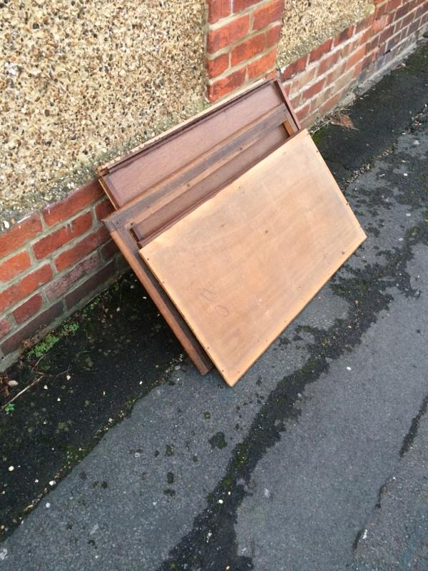 Furniture dumped on pavement - partially blocking it-74 Prince of Wales Avenue, Reading, RG30 2UH