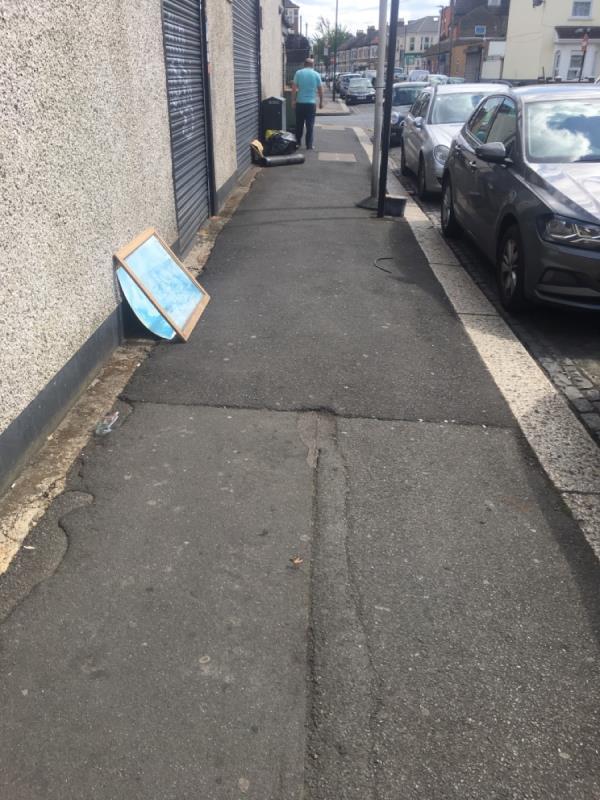 Dumped rubbish -181 Neville Road, London, E7 9QS