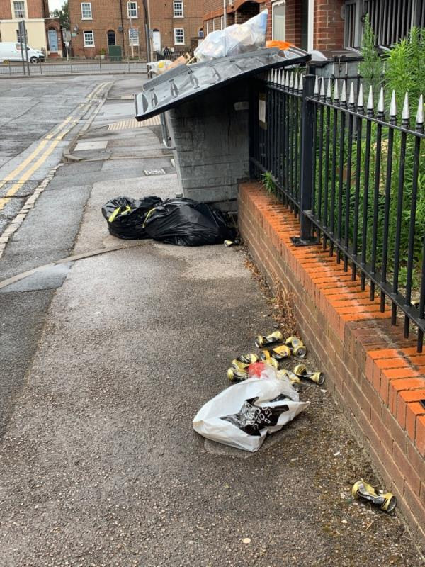 fly tipping bin issues-11 Vachel Road, Reading, RG1 1NY