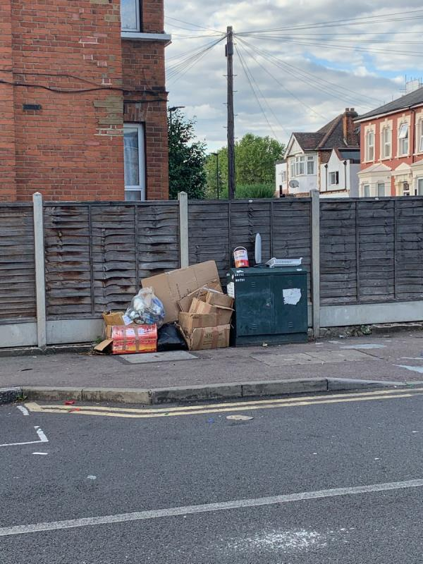 Fly tipping-18 Sprowston Road, London, E7 9AD