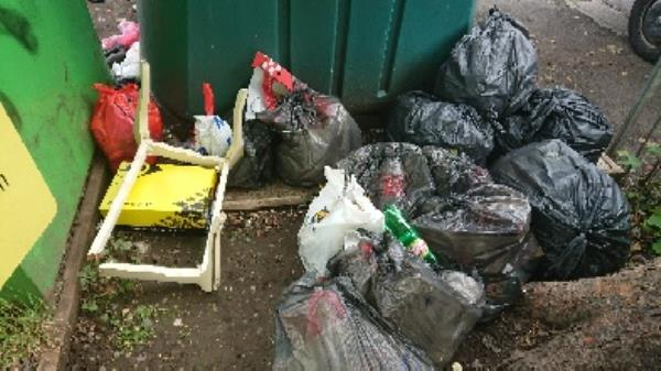 removed 14 bin bags of fly tipped house old waste -94 Cranbury Rd, Reading RG30 2TA, UK